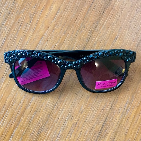 e7df1c9d25a5 Betsey Johnson Black Rhinestone Sunglasses